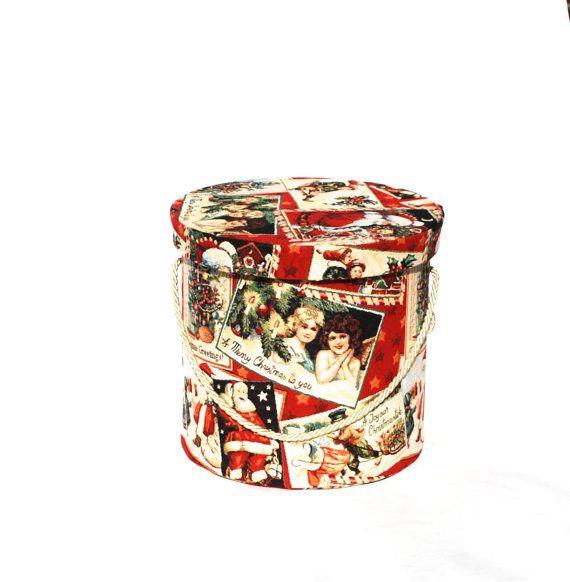 Hutschachtel Schachtel Weihnachtszeit handmade Gobelin von Arsunica
