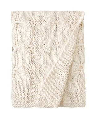 Amity Cable Knit Throw (Natural)