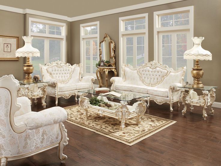 12 best Victorian and French Provincial Living Room Sets ...