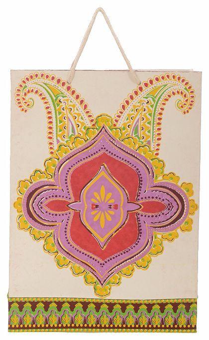 Utsav Kraft Paper 3 Ltrs Multicolour Reusable Shopping Bags (pack of 10)