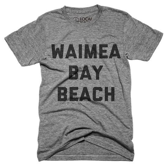 ハワイ・オアフ島の中に多数ある有名サーフスポットの一つ、ワイメアビーチ。ちょっとローカル色が強く、有名な『ROCK』のジャンプもできる『ワイメアビーチ』。そんなワイメアベイビーチ好きな人にオススメな一枚。Unisex Classic Series T-shirt - Size XS,S,M,L,XL - Tags : #waimea #waimeabeach #waimeabaybeach #ワイメア #ワイメアビーチ #ノースショア #northshore #ハワイ #hawaii #アロハ #aloha