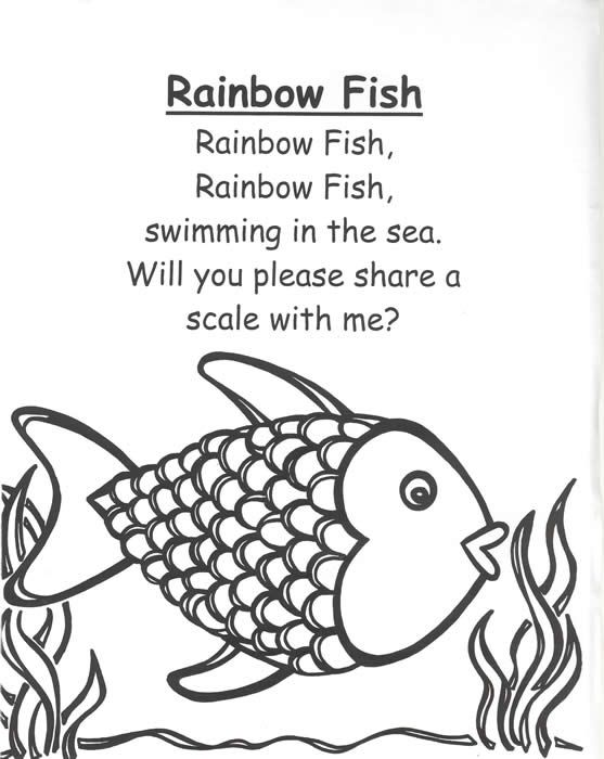 "rainbow fish poem""..great beginning of the year post read aloud activity. Rainbow fish is good read aloud to teach habit 2"