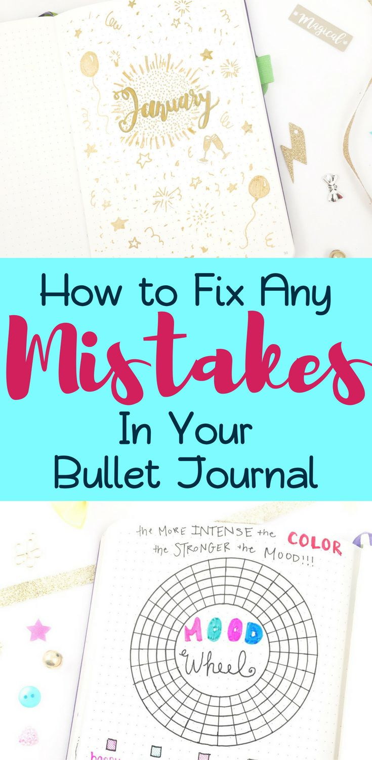Are you messing up in your bujo and it's letting you down? Need some help with fixing mistakes in your bullet journal? This blog post explores tools to fix mistakes, but it also provides ideas to prevent them. It also takes the concept a step further by examining your thought process when you make a mistake. You'll find at least one of the 17 concepts in the article super helpful for conquering any mistake! #bujo #bujomistakes #planning #mistakes #bulletjournal #bulletjournalcommunity…