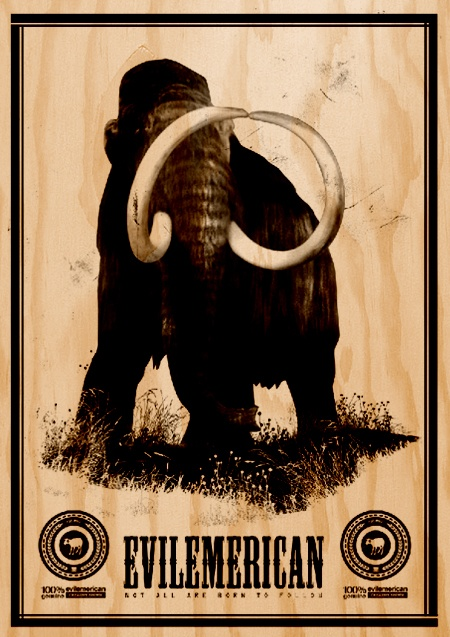 Plywood Poster Print 100%Mammoth