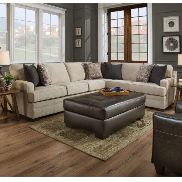 Simmons 9165br Macy Sand Sectional Sofa Hope Home Furnishings