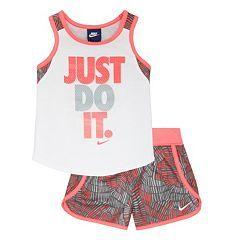 """Toddler Girl Nike """"Just Do It"""" Tanktop & Shorts Set"""