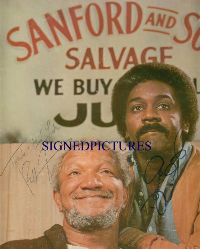 SANFORD AND SON CAST REDD FOXX DEMOND WILSON AUTOGRAPHED 8x10 RP PHOTO - Television  Pinned from Bonanza