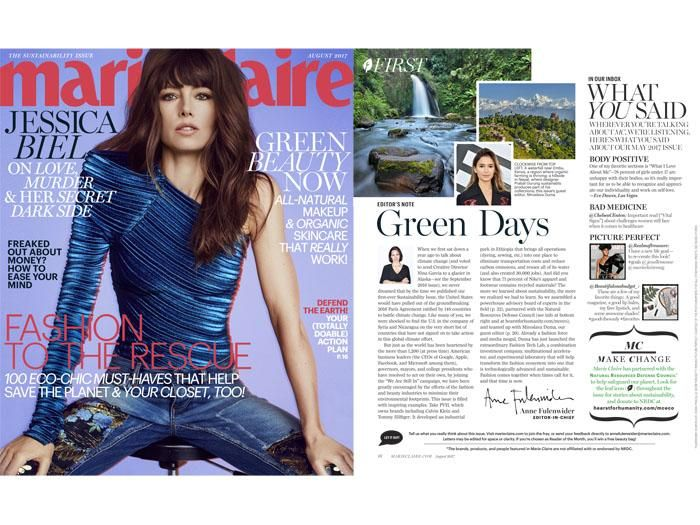 Marie Claire's First Ever Sustainability Issue