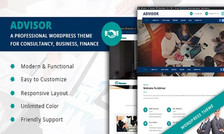 #Theme Of The 11 Apr 2017 Advisor - A Professional WordPress Theme for Consultancy, Business, Finance by Zozothemes  http://www.designnominees.com/themes/advisor-a-professional-wordpress-theme-for-consultancy-business-finance