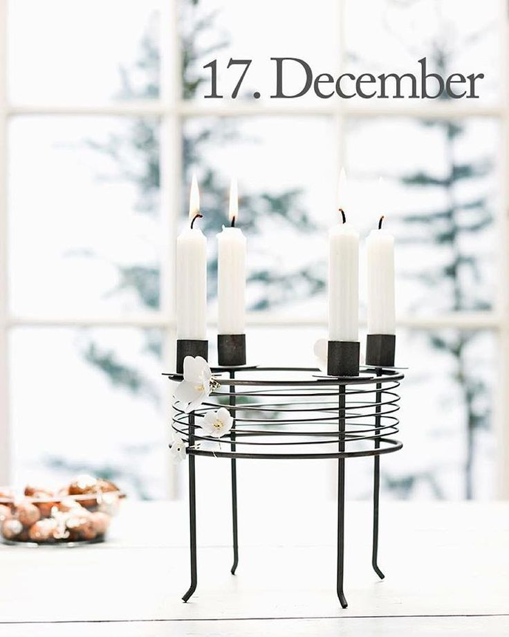 Good morning, Thursday 17th of December and only 1 week until Christmas! The design of the day is our Candle holder for four candles. Like our Facebook page & the post of the day and you might be the lucky winner! The Candle holder for four candles costs 199,-dkk in our web-shop www.jettefroelich.dk, but for today only! #christmascalendar #christmasgiveaway #facebook #candleholderforfourcandles #jettefrölich #jettefroelich #jettefrölichdesign #jettefroelichdesign #danishdesign…