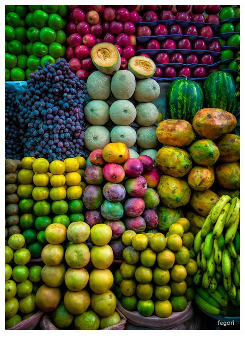 Beautiful colors of fruits: