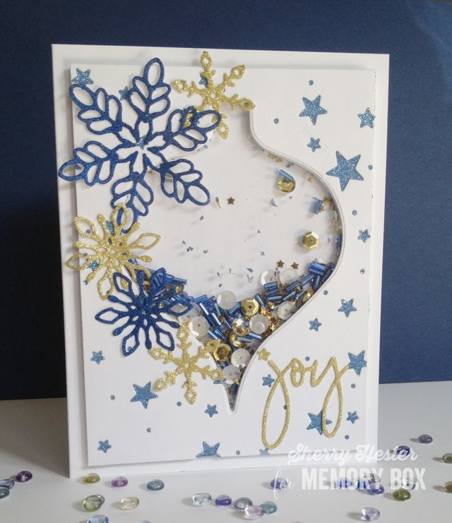 Shimmery Shaker Ornament  by Sherry Hester by the Memory Box Design Team