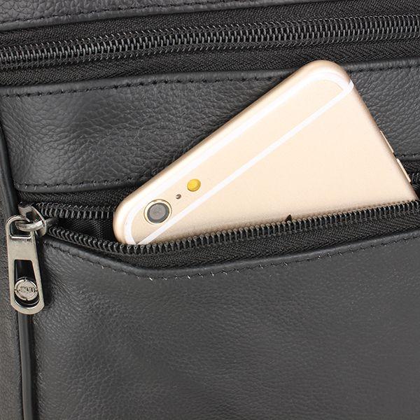 Men Leather Outdoor Leisure Crossbody Bag Business Hand Bag