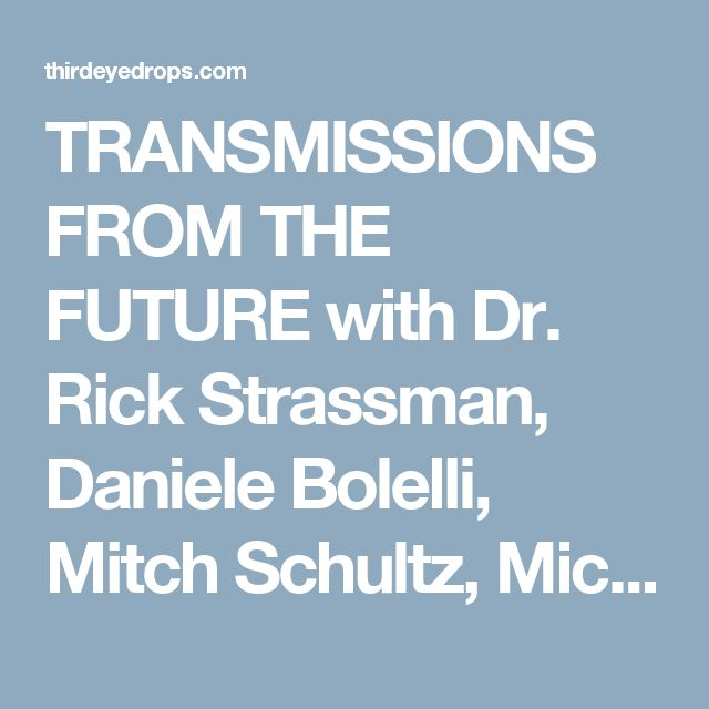 TRANSMISSIONS FROM THE FUTURE with Dr. Rick Strassman, Daniele Bolelli, Mitch Schultz, Michael Garfield and Alexander Ward