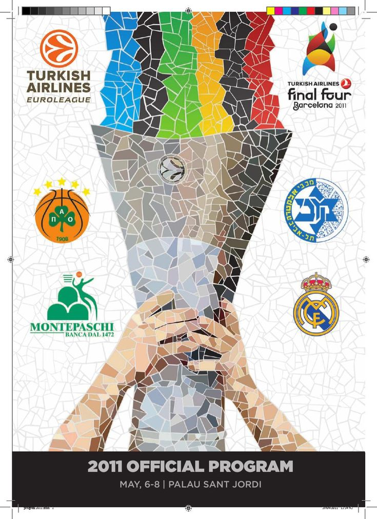 Euroleague Final Four 2011 - Official Program  Diseño programa oficial de la Euroleague Final Four 2011