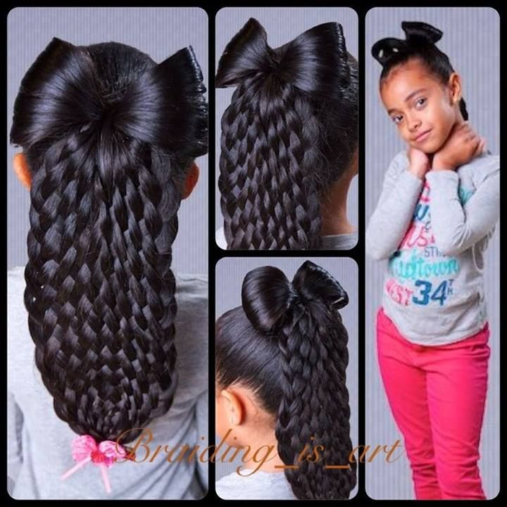Braided Hairstyles For Girls 20 fancy little girl braids hairstyle Bow And Braids For Little Girls