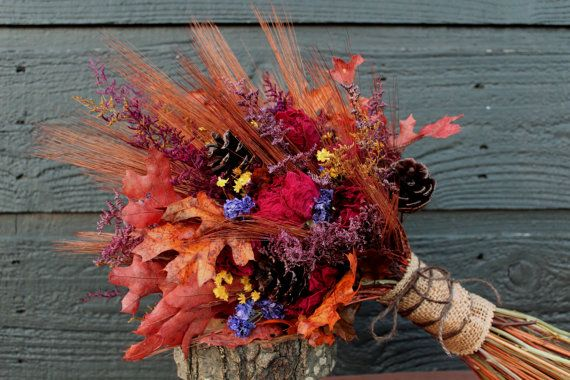 Sample Sale, Rustic Farmhouse Fall Wedding Bouquet and Boutonniere Set, Autumn Bouquet, Burgundy Peony Bouquet with Wheat and Autumn Flowers on Etsy, $70.00