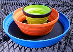 Sea to Summit collapsible dinnerware - what's not to love about something that can squish down for packing?