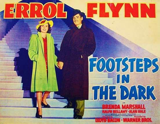 Footsteps in the Dark (1941) Errol Flynn, Barbara Marshall, Ralph Bellamy