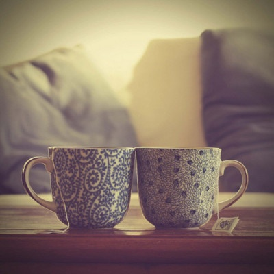 Two mugs together