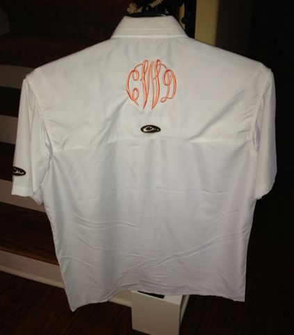 Monogrammed fishing shirt lady drake pinterest for Monogram fishing shirt