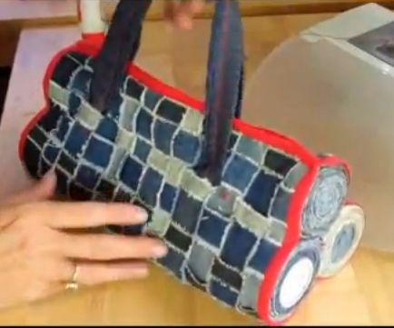 Woven Denim Handbag - Free Tutorial