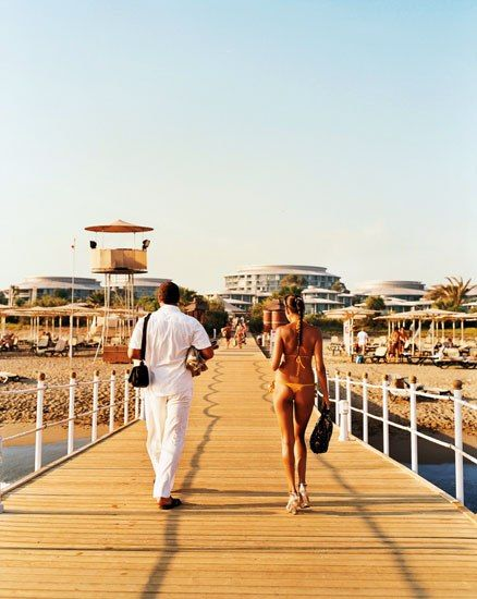 The Calista Luxury Resort, in Belek, Turkey, is popular with Russians and other Slavic visitors.