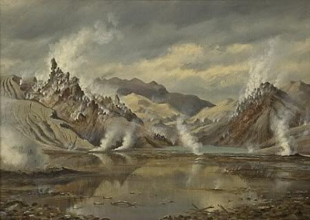 Charles Blomfield 'Rotomahana after the eruption' (1887)