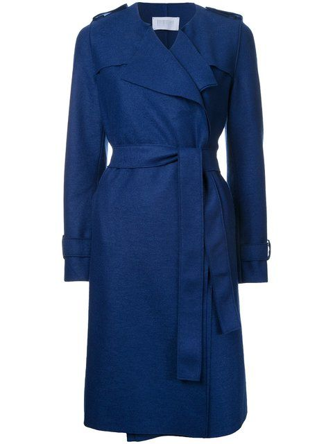 HARRIS WHARF LONDON Long Trench Coat. #harriswharflondon #cloth #coat