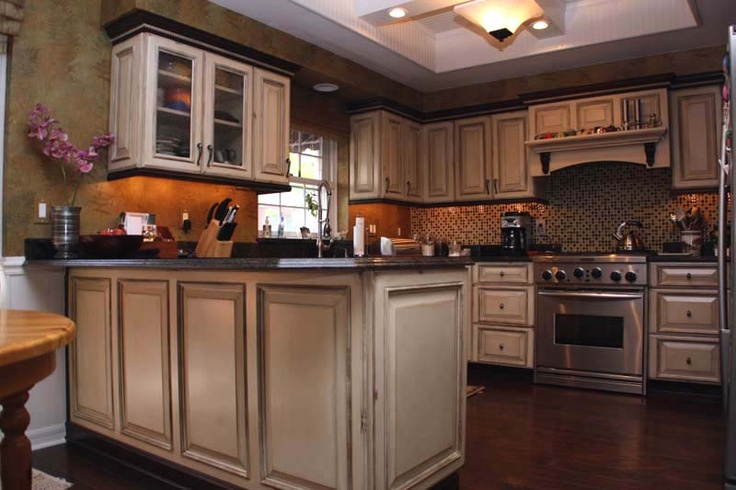 Antique Paint Cabinets In Kitchen