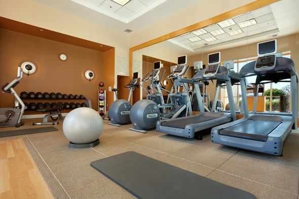 Fitness room interior design elegant and modern