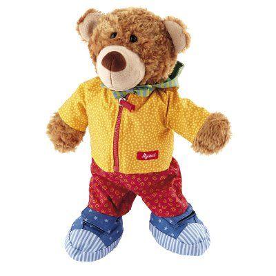 Strikken, knopen, klittenband en ritssluiting, wat elk kind moet leren, daarbij helpt je deze vrolijke leerbeer, dan is het nog maar half zo moeilijk.  De beer is ongeveer 35cm