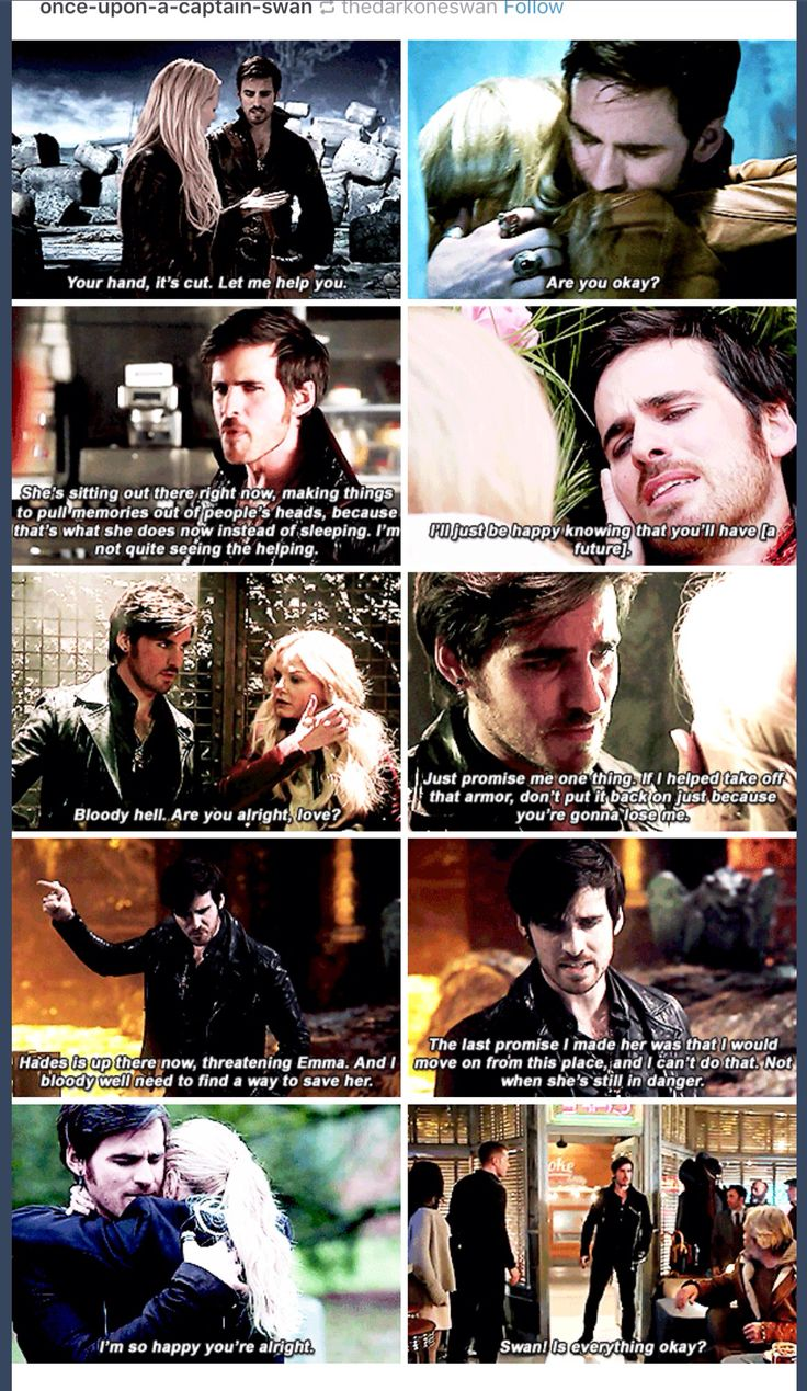 Hook, always putting Emma's needs in front of his own.