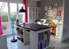Table patrons 3 meubles ikea + plan de travail
