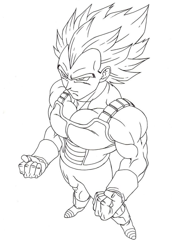 Goku Ss1 Free Coloring Pages