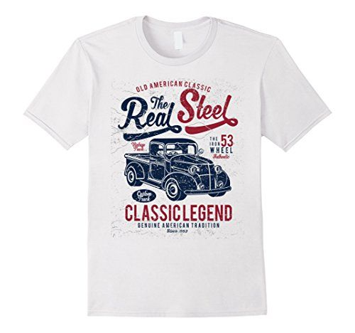 Mens Old American Classic Car The Real Steel T-Shirt 2XL ... https