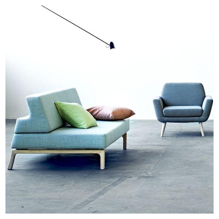 Canapé lit bleu LAZY Softline