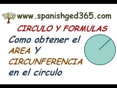 CIRCULO: Se describen las partes del circulo, radio, diametro, y se explica como obtener el area y la circunferencia