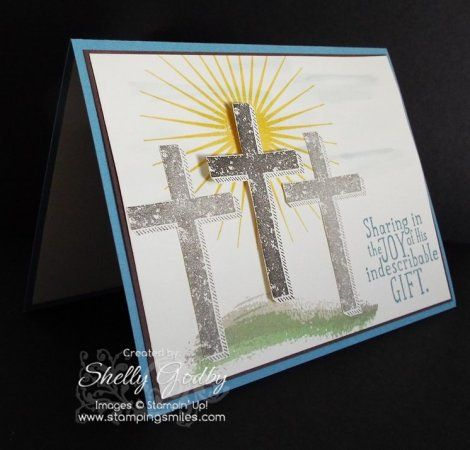 Handmade Easter Card with Stampin' Up! Blessed by God www.stampingsmiles.com