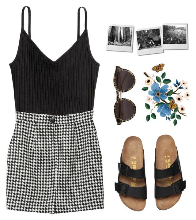 """""""I am the one for you //"""" by lindsay-xo ❤ liked on Polyvore featuring H&M, Monki and Illesteva"""