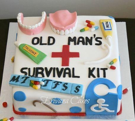 Old Man Survival Kit Funny Pinterest Bakverk