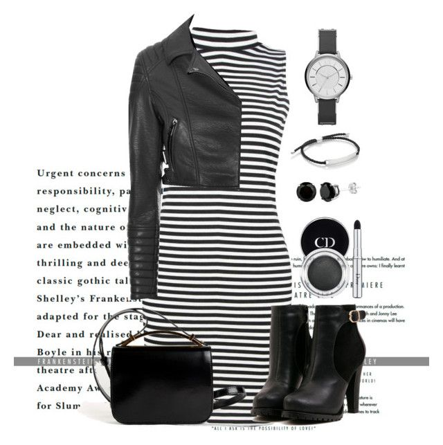 Black' white by marieck-1 on Polyvore featuring polyvore, fashion, style, Boohoo, Glamorous, Givenchy, Armani Exchange, Monica Vinader and Christian Dior