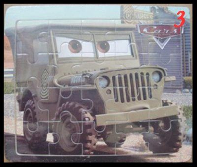 Pussel Cars jeep Schassen 20 bitar