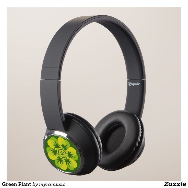 Green Plant Headphones. Música, music. Producto disponible en tienda Zazzle. Tecnología. Product available in Zazzle store. Technology. Regalos, Gifts. #headphones #sound #music #cannabis
