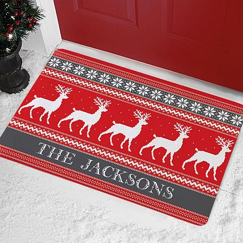 Personal Creations Personalized Reindeer Sweater Doormat