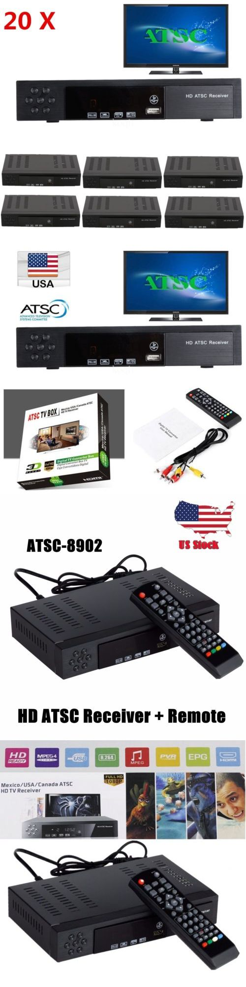 Cable TV Boxes: 20X Atsc Digital Hd 1080P Remote Usb Tv Box Converter Decoder Tuner Receiver Ek -> BUY IT NOW ONLY: $375.97 on eBay!