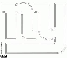 new york giants logo coloring page - Nfl Football Logos Coloring Pages