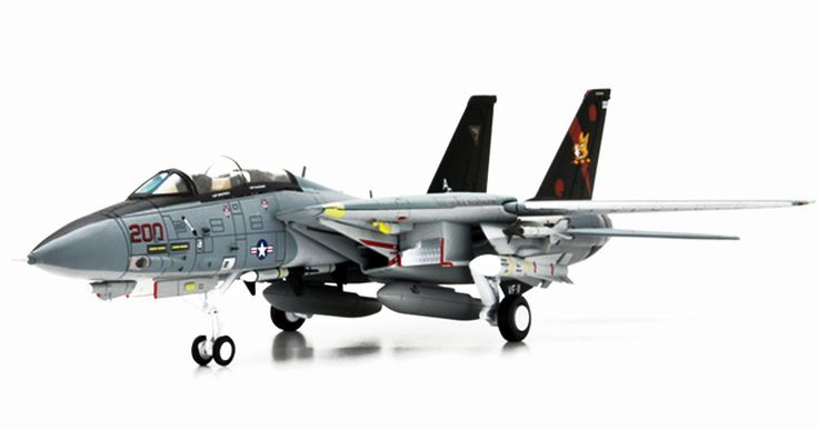 Century Wings 1:72 Grumman F-14A Tomcat Diecast Model (USN VF-114 Aardvarks, NH105, USS Kitty Hawk, 1978)