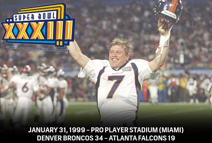 Super Bowl XXIII - Denver Broncos 34 - Atlanta Falcons 19  #NBCSports