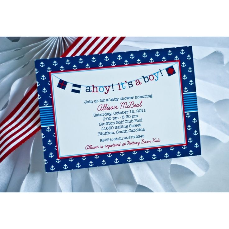 Ahoy Itu0027s A Boy Nautical Baby Shower Printable Invitation $18